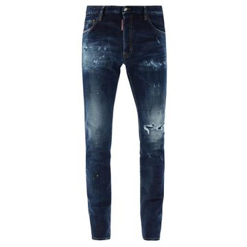 Dsquared2 - Cool Guy Distressed Skinny-leg Jeans - Mens - Blue