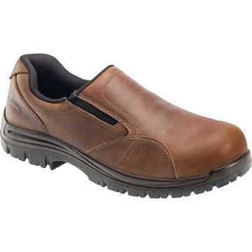 Avenger Men's A7106 Composite Toe EH Slip-On Shoe Brown Full Grain Crazy Horse Leather