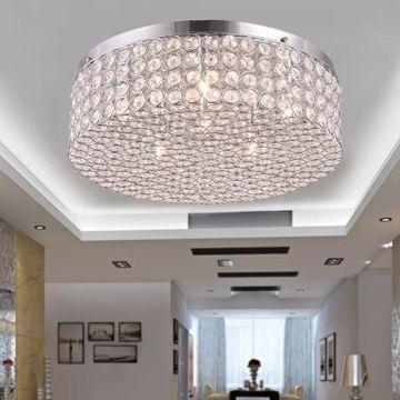 Giannis 6-light Flush Mount Ceiling Lamp Crystal and Chrome