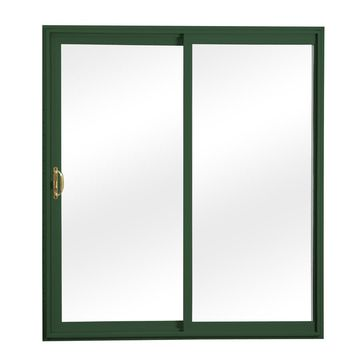 ReliaBilt Clear Glass Green Vinyl Universal Reversible Double Door Sliding Patio Door (Common: 72-in x 80-in; Actual: 70.75-in x 79.5-in)