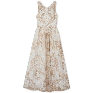 Big Girls Mesh Illusion Maxi Dress