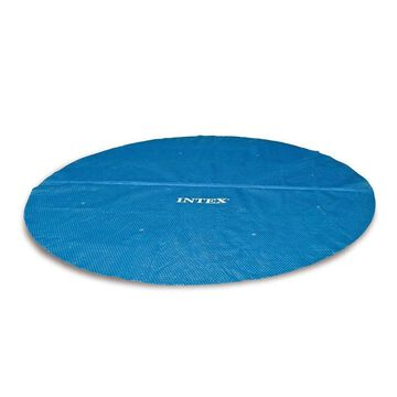 Intex Intex 29024E 16 Foot Above Ground Swimming Pool Solar Cover with Carry Bag, Blue | 160757