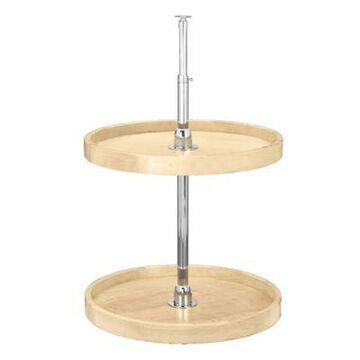Rev-A-Shelf Wood Full Circle 22-Inch Lazy Susan 2-Shelf Set in Natural