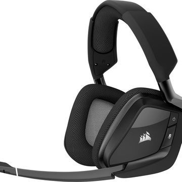 CORSAIR - VOID PRO RGB Wireless Dolby 7.1-Channel Surround Sound Gaming Headset for PC - Carbon Black