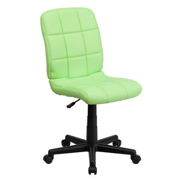 Offex Mid-Back Green Quilted Vinyl Task Chair