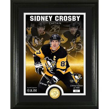 Highland Mint Sidney Crosby Pittsburgh Penguins 13'' x 16'' NHL Signature Series Bronze Coin Photo Mint