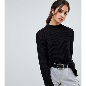 Bershka knitted sweater in black