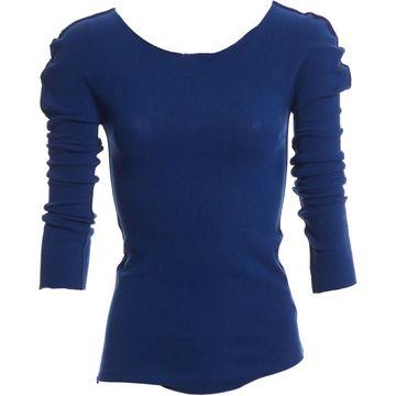 Issey Miyake Blue Cotton Knitwear