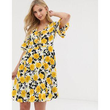 Y.A.S floral print tea dress