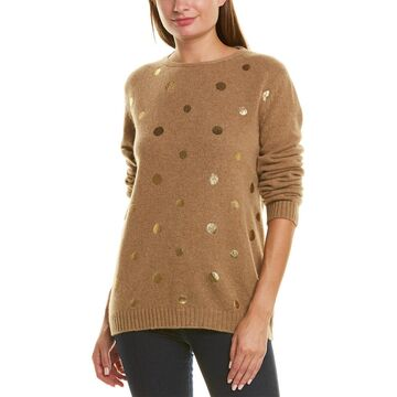 Piazza Sempione Metallic Dot Wool Sweater