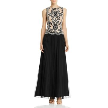 Aidan Mattox Womens Embellished Tulle Formal Dress