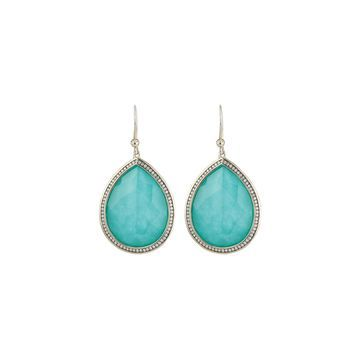 Stella Earrings in Turquoise Doublet with Diamonds