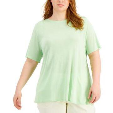 Alfani Plus Size Modal Crewneck T-Shirt, Created for Macy's