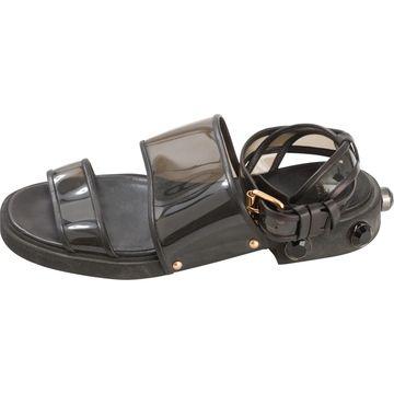 Givenchy Black Plastic Sandals