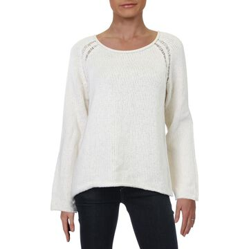 Chelsea & Theodore Womens Ladder Stitch Pullover Sweater
