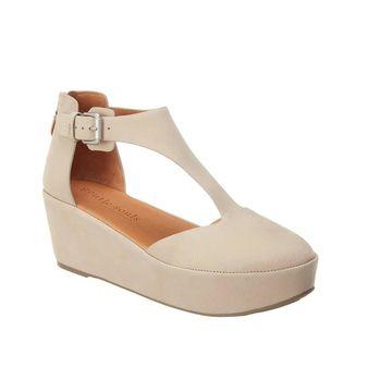 Gentle Souls Nydia Leather Platform Sandal