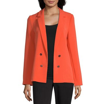 Worthington Womens Double Breasted Blazer
