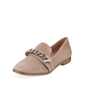 Suede Chain Loafers