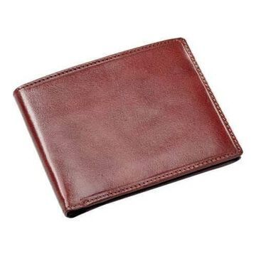 Men's CLAVA Leather Bifold Wallet Cognac