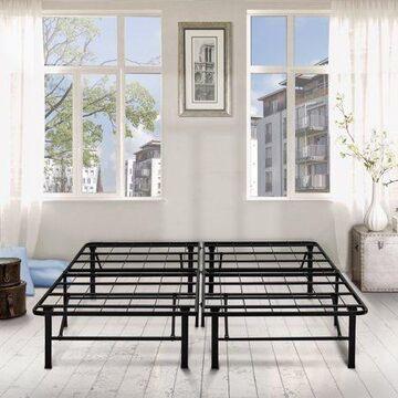 """Premier 14"""" Platform Metal Bed Frame with Under Bed Storage, King"""