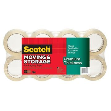 3M Scotch Moving/Storage Packaging Tape (MMM36318),Pack of 8