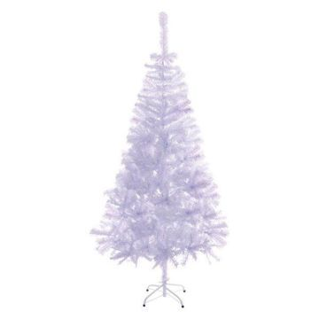 Aleko Artificial Christmas Tree, White, 6.8'
