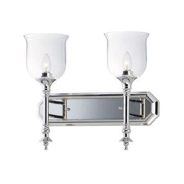 Maxim Lighting Centennial 2-Light Nickel Traditional Vanity Light