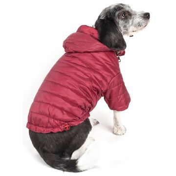 Pet Life Red Lightweight Adjustable Sporty Avalanche Pet Coat, Small
