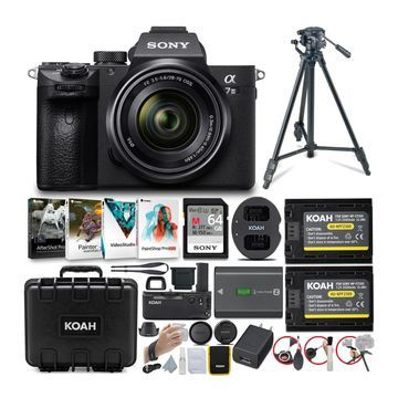 Sony Alpha a7 III 24.2MP Full-Frame Mirrorless Digital Camera with 28-70mm Lens, Custom Hard Case and Accessories Bundle