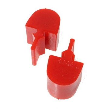 Energy Suspension GM Pull Thru Style Red Bump Stop Set