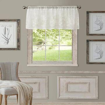 Elrene Addison Rod Pocket Sheer Window Curtain Valance - 60