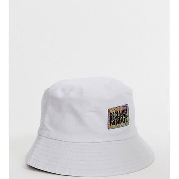 Reclaimed Vintage branded bucket hat in white