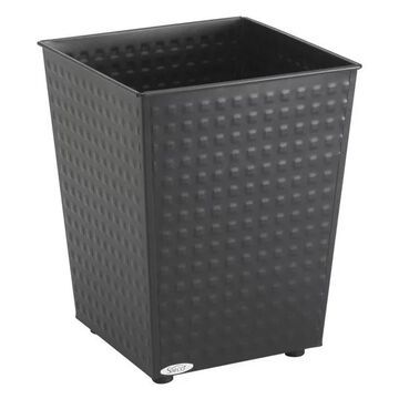 Safco Checks Wastebasket in Black (Set of 3)