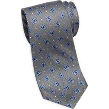 Pronto Uomo Platinum Narrow Tie Gray & Blue