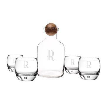 Cathy's Concepts 5-pc. Monogram Bourbon Decanter Set, Multicolor, SETS