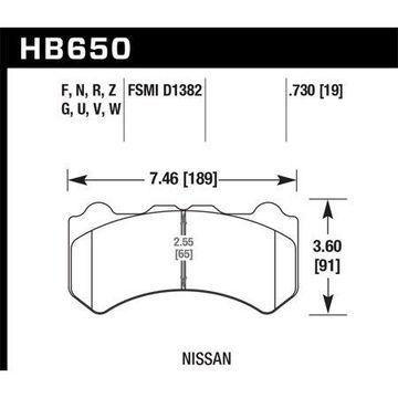 Hawk 09-11 Nissan GT-R Performance Ceramic Street Front Brake Pads
