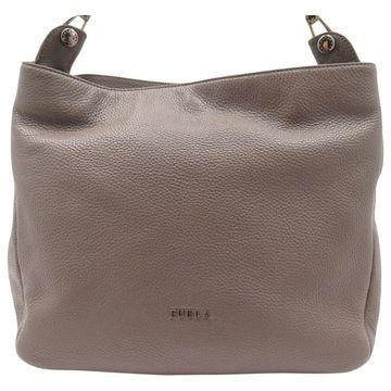 Furla Beige Leather Handbag