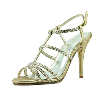 Caparros Womens Groovy Open Toe Special Occasion Strappy Sandals, Gold, Size 8.5