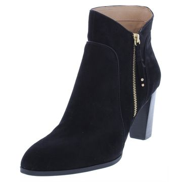 Adrienne Vittadini Womens Taki Suede Almond Toe Booties