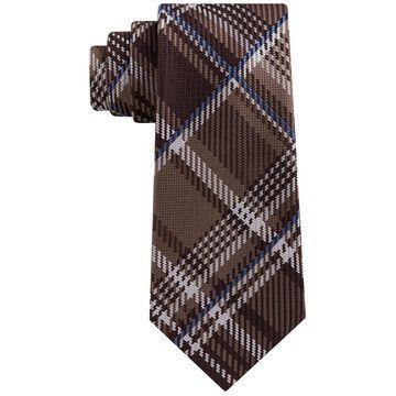 Men's Textured Plaid Silk Tie