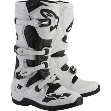 Alpinestars Tech 5 Boots White/Black Sz 6