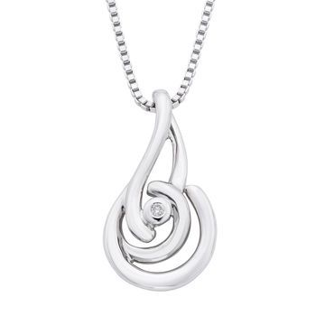 Boston Bay Diamonds Sterling Silver Diamond Accent Knot Pendant