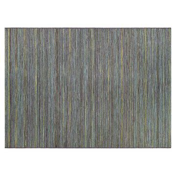 Couristan Cape Hinsdale Striped Indoor Outdoor Rug, Blue, 8X11 Ft