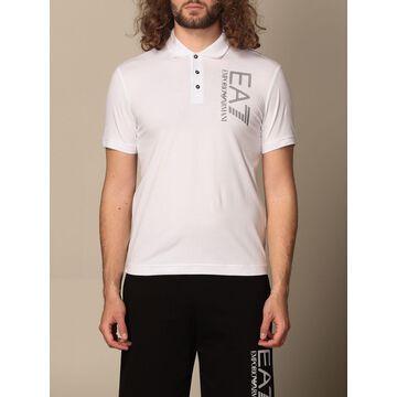 EA7 cotton polo shirt with logo