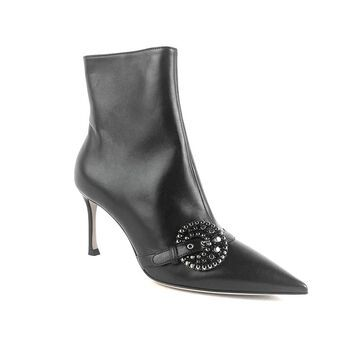 Dior Women's Lambskin Leather Gang Ankle High Boot Black