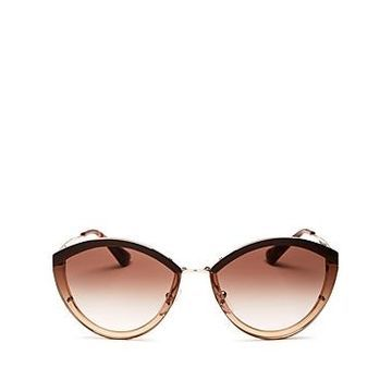 Prada Women's Oversized Rimless Cat Eye Sunglasses, 62mm