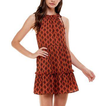 Speechless Juniors' Printed Halter Dress