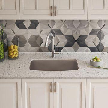 BLANCO Valea Undermount 27-in x 18-in Truffle (Brown) Single Bowl Kitchen Sink   442549