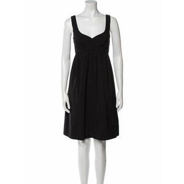 V-Neck Knee-Length Dress w/ Tags Black