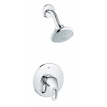 GROHE Eurostyle Chrome 1-Spray Shower Head 2-GPM (7.6-LPM) | 35060003